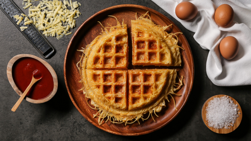 Create Tasty Waffles with a Twist recipe