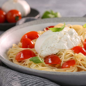 Pasta and Burrata the Perfect Match