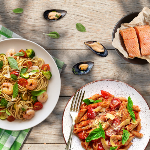 Seafood with Organic Pasta Recipes
